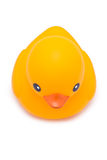 Bath Duck. Yellow Rubber Bath Duck isolated on white Stock Photo