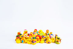 Bath duck om white background Royalty Free Stock Images