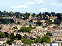 Bath, England. Panoramic view of the historic city of Bath, England Stock Photo