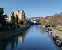 Bath England. Bath Canal in Bath Avon in the United Kingdom Stock Image