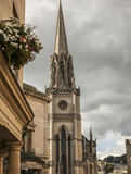 Bath, England - a church. This image shows a view of one of the streets in the city of Bath, England Royalty Free Stock Image