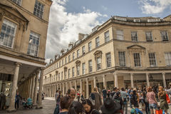 Bath, England - the croud. This image shows a view of one of the streets in the city of Bath, England Royalty Free Stock Photography