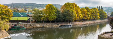 BATH, ENGLAND/ EUROPE - OCTOBER 18: The River Avon next to Pulte Stock Images