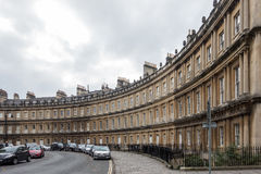 BATH, ENGLAND/ EUROPE - OCTOBER 18: View of The Circus in Bath S Royalty Free Stock Photo