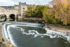 BATH, ENGLAND/ EUROPE - OCTOBER 18: View of Pulteney Bridge in B Royalty Free Stock Image