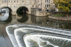 BATH, ENGLAND/ EUROPE - OCTOBER 18: View of Pulteney Bridge in B Stock Photo