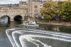 BATH, ENGLAND/ EUROPE - OCTOBER 18: View of Pulteney Bridge in B Stock Photos