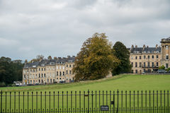 BATH, ENGLAND/ EUROPE - OCTOBER 18: View of the Royal Crescent i Royalty Free Stock Photo