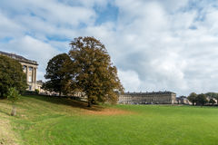 BATH, ENGLAND/ EUROPE - OCTOBER 18: View of the Royal Crescent i. N Bath Somerset on October 18, 2015. Unidentified people Royalty Free Stock Images