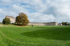 BATH, ENGLAND/ EUROPE - OCTOBER 18: View of the Royal Crescent i Stock Photography