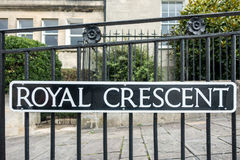 BATH, ENGLAND/ EUROPE - OCTOBER 18: View of the Royal Crescent r Royalty Free Stock Photo
