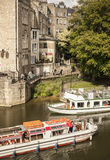 Bath, England, Europe - the river and the sightseeing boats. This picture shows a street in Bath, England, Europe Stock Photo