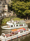Bath, England, Europe/sightseeing boats. This picture shows a street in Bath, England, Europe Stock Image