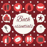 Bath essentials Royalty Free Stock Photography