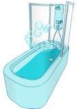 Bath et douche Image stock