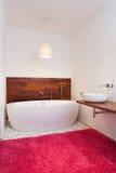 Bath in exotic style bathroom Stock Image