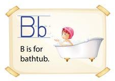Bath flashcard Royalty Free Stock Images