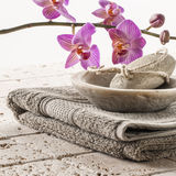 Bath and footcare with femininity Royalty Free Stock Images