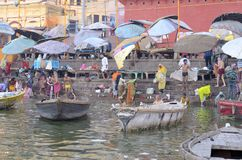 Bath in the Ganges Royalty Free Stock Images