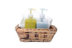 Bath gel and herbal body care. Stock Images