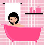 Bath girl Royalty Free Stock Photo