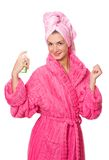 Bath girl. Picture of a young attractive girl after taking a shower Stock Photography