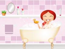 bath girl Стоковое фото RF