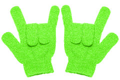Bath gloves texture isolate on white background Royalty Free Stock Photography