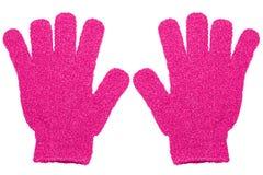 Bath gloves texture isolate on white background Royalty Free Stock Photos