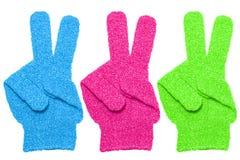 Bath gloves texture isolate on white background Stock Photo