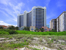 Bath House Miami Beach and dunes Royalty Free Stock Photography