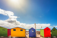 Bath-Houses. Bathhouses in St. James South Africa Royalty Free Stock Image