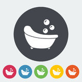 Bath icon. Flat vector related icon for web and mobile applications. It can be used as - logo, pictogram, icon, infographic element. Vector Illustration Royalty Free Stock Photography