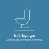 Bath icon. Perfect flat linear logotype or icon of bath topic. It is great choice for apps, button, web, print, logotype and identity for your company Royalty Free Stock Photography