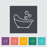 Bath icon. Bath thin line flat vector related icon set for web and mobile applications. It can be used as - logo, pictogram, icon, infographic element. Vector Stock Photography