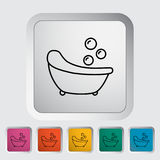 Bath icon. Bath thin line flat vector related icon set for web and mobile applications. It can be used as - logo, pictogram, icon, infographic element. Vector Stock Photo