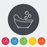 Bath icon. Thin line flat vector related icon for web and mobile applications. It can be used as - logo, pictogram, icon, infographic element. Vector Stock Photography