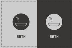 Bath Illustration. A clean and simple bath illustration stock illustration