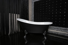 Bath interior in black Royalty Free Stock Photos