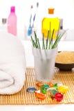 Bath items Stock Image