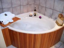 Bath Luxury spa jaccuzi Royalty Free Stock Photo