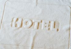 Bath mat Stock Image