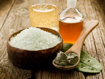 Bath minerals mud and oil Royalty Free Stock Photo