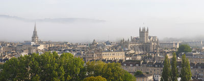 Bath in the mist Royalty Free Stock Photography