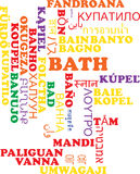 Bath multilanguage wordcloud background concept Royalty Free Stock Photography