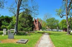 Bath, NC: Palmer-Marsh House and Burial Ground Stock Image