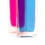 Bath oil. Two bottles of bath oil royalty free stock photos