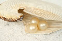 Bath oil pearl Royalty Free Stock Photography