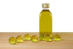 Bath oil pearls. Body care background Stock Photo