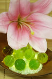 Bath oil pearls Stock Photography